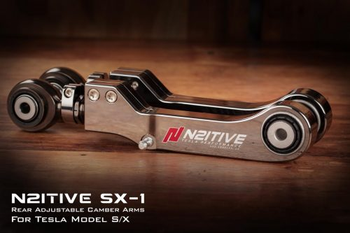 N2itive SX-1 Tesla Adjustable Camber Arm For Model S or X - Electroless Nickel Plated Black