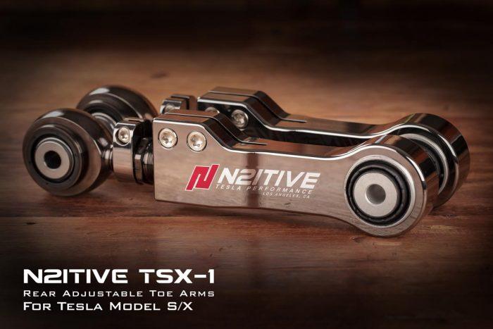 N2itive Black TSX-1 Adjustable Toe Arm for Tesla Models X or S