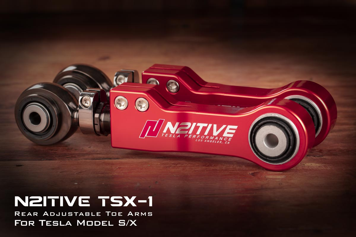 N2itive TSX-1 Adjustable Toe Arm for Tesla Models X or S