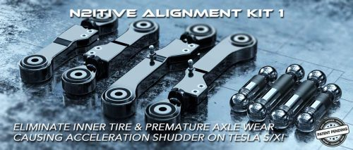 N2itive Alignment Kit 1 - Ease stress on half-shafts and CV joints to eliminate premature axle wear and eliminate inner tire wear.